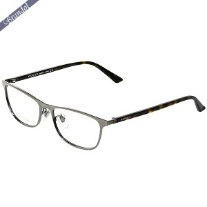グッチ GUCCI メンズ メガネフレーム ウェリントン型 マーブル柄コンビフレーム シルバー系×ブラウン GG0133OJ-003 | ブランド