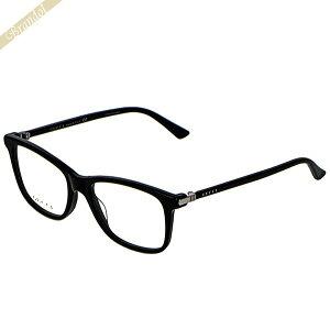 グッチ GUCCI メンズ メガネフレーム ウェリントン型 セルフレーム ブラック GG0018O-001 | ブランド