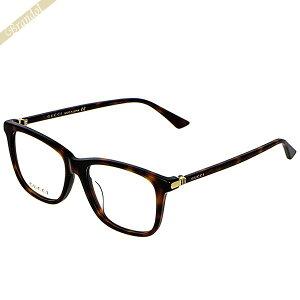 グッチ GUCCI メンズ メガネフレーム ウェリントン型 セルフレーム アジアンフィットモデル ブラウン系 GG0018OA-002 | ブランド