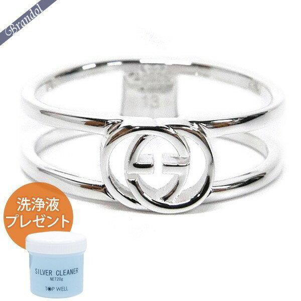 グッチ リング メンズ 指輪 インターロッキングG シンオープンバンド シルバー 298036 J8400 8106