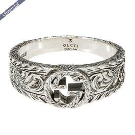 《最大900円クーポン配布中》グッチ リング メンズ 指輪 インターロッキングG 彫銀風 シルバーリング シルバー 455249 J8400 0701