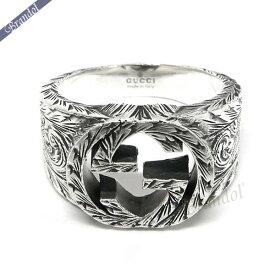 《最大900円クーポン配布中》グッチ リング メンズ 指輪 インターロッキングG 彫銀風 シルバーリング シルバー 455302 J8400 0811