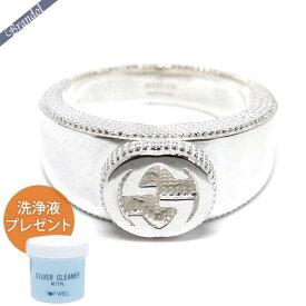 《最大900円クーポン配布中》グッチ メンズ 指輪 インターロッキング Gリング シルバー [9号-25号] 479228 J8400 8106 【xcp9】