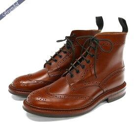 トリッカーズ Tricker's メンズ カントリーブーツ ストウ STOW ウィングチップ 本革 ビジネスシューズ [25.0cm/25.5cm/26.0cm/26.5cm/27.0cm/27.5cm] マロンアンティーク / ブラウン 5634-25