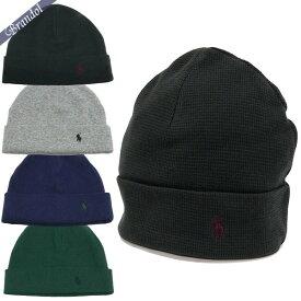 ポロ ラルフローレン メンズ ニット帽 コットン100% ニットキャップ 各色 6F0468