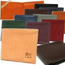イルビゾンテ IL BISONTE メンズ 二つ折財布 本革 カーフレザー [ブラック/ブラウン/キャメル/ヌメ/オレンジ/レッド/ネイビー/パープル/グリーン/グレージュ]各色 C0487M | ブランド