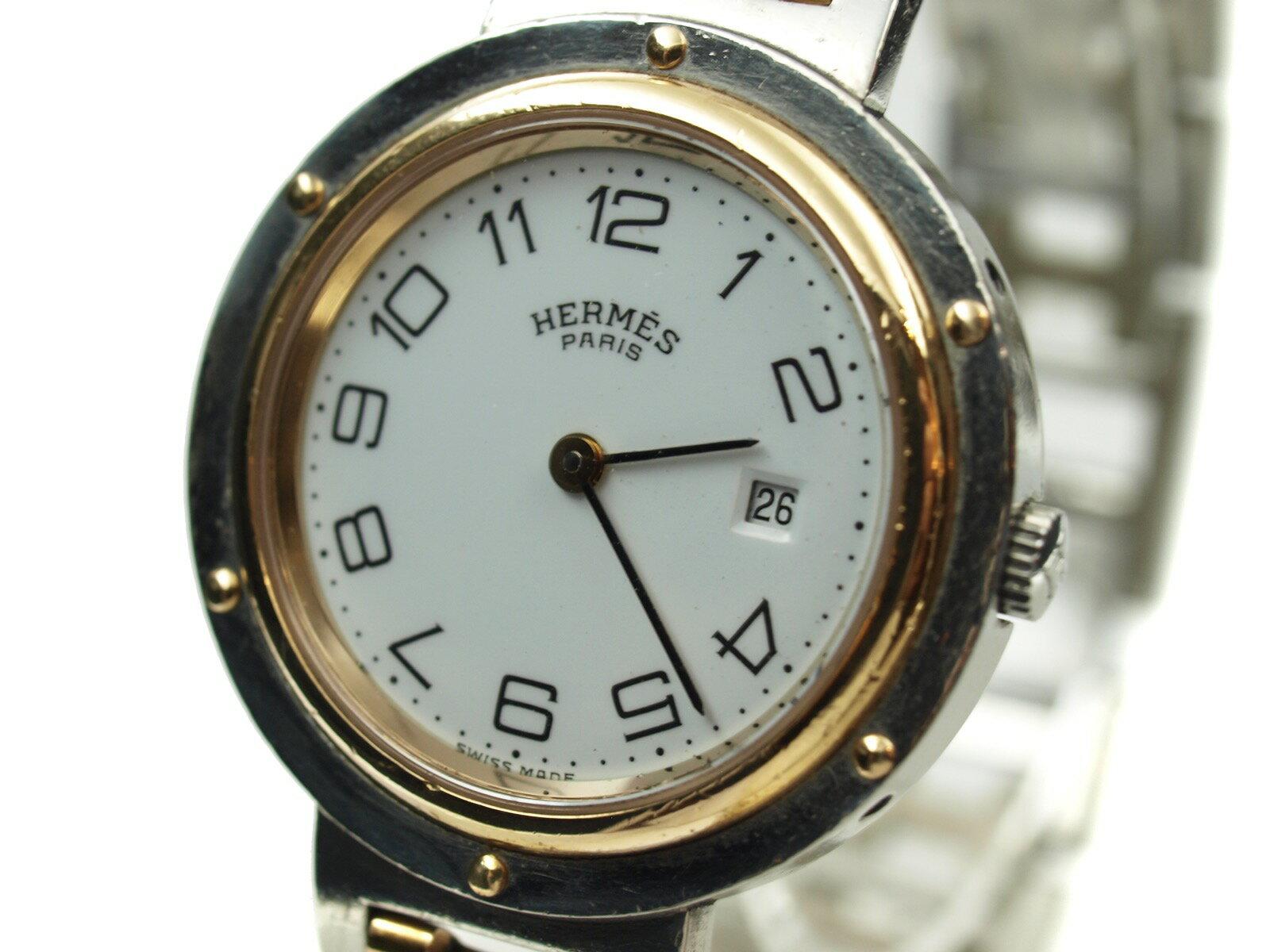 -HERMES- エルメス クリッパー【レディース】【ホワイト・シルバー・ゴールド】【中古】