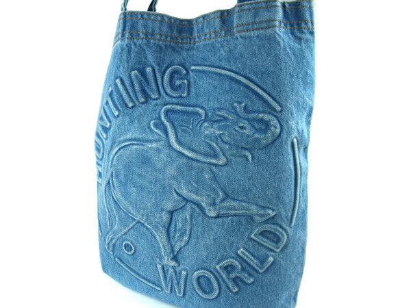 -HUNTING WORLD- ハンティングワールド デニム ショルダートートバッグ【ブルー】【中古】