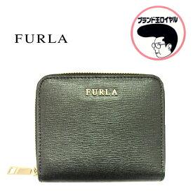 a9d56b9ab4d3 FURLA フルラ コンパクトミニ財布 二つ折りジップ 黒 【中古】未使用