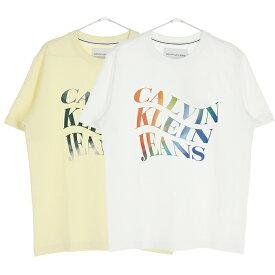 CALVIN KLEIN JEANS カルバンクラインジーンズ Tシャツ メンズ イエロー ホワイト オンライン 通販 001j30j314469