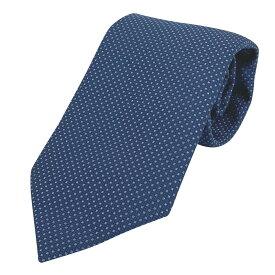 エルメス HERMES ドット柄 ネクタイ 紳士 ビジネス 水玉 ネクタイ シルク ブルー メンズ 【中古】