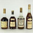 【店内最大70%OFF3/4 20:00-3/11 1:59迄】 ヘネシー Hennessy 4本セット コニャック ブランデー セット 【古酒】