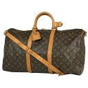ルイ・ヴィトン Louis Vuitton キーポル バンドリエール 50 ハンドバッグ ショルダーバッグ マザーバッグ 斜め掛け 旅…