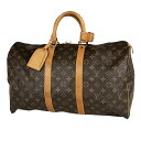 ルイ・ヴィトン Louis Vuitton キーポル 45 ハンドバッグ 旅行 出張 ビジネス ジム 1泊2日 ボストンバッグ モノグラム…
