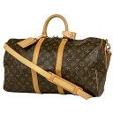 ルイ・ヴィトン Louis Vuitton キーポル バンドリエール 45 ハンドバッグ ショルダーバッグ マザーバッグ 斜め掛け 旅…