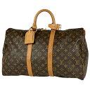 ルイ・ヴィトン Louis Vuitton キーポル 45 ハンドバッグ 旅行 出張 ビジネス ボストンバッグ モノグラム ブラウン M4…