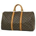 ルイ・ヴィトン Louis Vuitton キーポル 50 ハンドバッグ 旅行 出張 ビジネス ボストンバッグ モノグラム ブラウン M4…