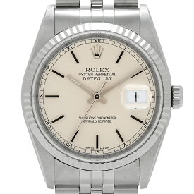 ロレックス ROLEX デイトジャスト 16234 腕時計 SS WG 自動巻き シルバー メンズ 【中古】