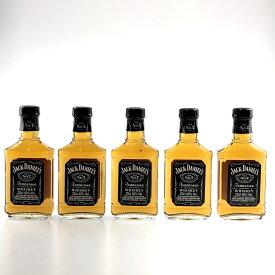 5本 ジャックダニエル JACK DANIELS オールド NO.7 ウイスキー セット 【中古】