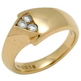 ポーラ POLA メレダイヤ デザイン リング イエローゴールド K18 指輪 リング YG ダイヤモンド レディース 【中古】