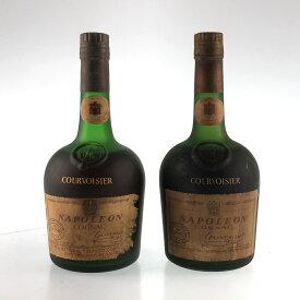 2本 クルボアジェ Courvoisier ナポレオン 旧ボトル コニャック 700ml ブランデー セット 【中古】