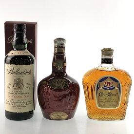 3本 スコッチ カナディアン ウイスキー セット 【中古】
