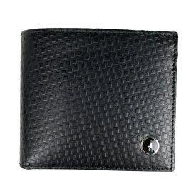 ダンヒル Dunhill ロゴ 二つ折り財布 札入れ 小銭入れ 二つ折り財布 レザー ブラック メンズ 【中古】