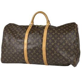 ルイ・ヴィトン Louis Vuitton キーポル 60 ハンドバッグ 旅行 出張 ビジネス ボストンバッグ モノグラム ブラウン M41422 レディース 【中古】