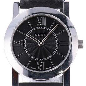 グッチ GUCCI 5200L.1 腕時計 SS レザー クォーツ ブラック レディース 【中古】