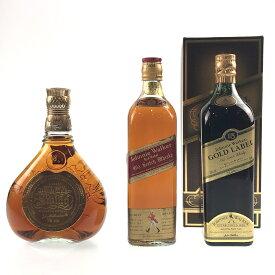 3本 ジョニーウォーカー JOHNNIE WALKER スウィング レッドラベル ゴールドラベル 15年 スコッチ ウイスキー セット 【中古】