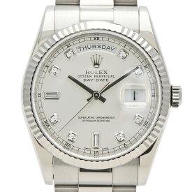 ロレックス ROLEX デイデイト 118239A 腕時計 WG 自動巻き シルバー メンズ 【中古】