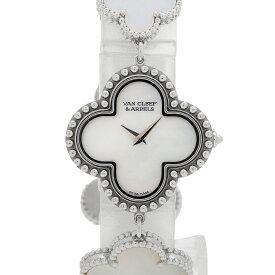 ヴァンクリーフ&アーペル Van Cleef & Arpels アルハンブラ スモールモデル ウォッチ 336674 腕時計 WG クオーツ ホワイト レディース 【中古】