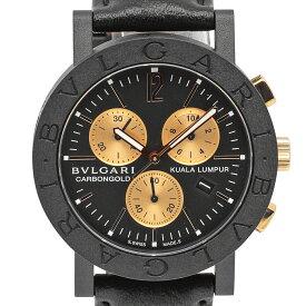 ブルガリ BVLGARI ブルガリブルガリ カーボンゴールド クアラルンプール BB38CLCH/7 腕時計 カーボン レザー ブラック メンズ 【中古】