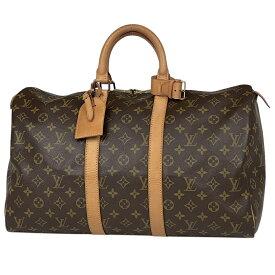 ルイ・ヴィトン Louis Vuitton キーポル 45 ハンドバッグ 旅行 出張 ビジネス ボストンバッグ モノグラム ブラウン M41428 レディース 【中古】