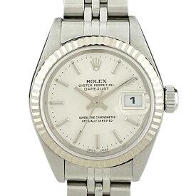 ロレックス ROLEX デイトジャスト 79174 腕時計 SS WG 自動巻き シルバー レディース 【中古】