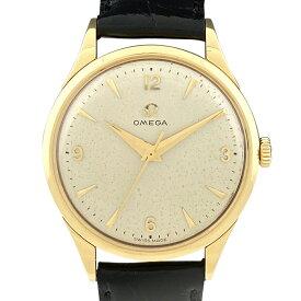 オメガ OMEGA アンティーク 腕時計 YG レザー 手巻き ゴールド メンズ 【中古】
