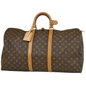ルイ・ヴィトン Louis Vuitton キーポル 55 ハンドバッグ 旅行 出張 ビジネス ボストンバッグ モノグラム ブラウン M41424 レディース 【中古】
