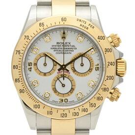 ロレックス ROLEX デイトナ 116523G 腕時計 SS YG 自動巻き ホワイト メンズ 【中古】