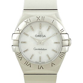 オメガ OMEGA コンステレーション 123.10.24.60.05.002 腕時計 SS クォーツ ホワイト レディース 【中古】