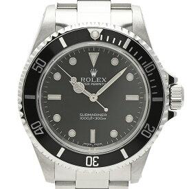 ロレックス ROLEX サブマリーナ ノンデイト 14060 腕時計 SS 自動巻き ブラック メンズ 【中古】