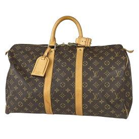 ルイ・ヴィトン Louis Vuitton キーポル 45 ハンドバッグ 旅行 出張 ビジネス トートバッグ モノグラム ブラウン M41428 レディース 【中古】