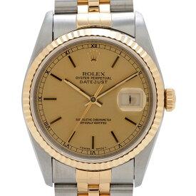 ロレックス ROLEX デイトジャスト クロノメーター 16233 腕時計 SS YG 自動巻き シャンパンゴールド メンズ 【中古】