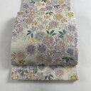袋帯 美品 名品 香織 桜 ラメ箔 金銀糸 白 六通 正絹 【中古】