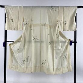 長襦袢 美品 秀品 やまと 桜 花びら クリーム 身丈128.5cm 裄丈69cm L 正絹 【中古】