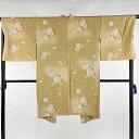 羽織 美品 逸品 やまと 桜 ぼかし 薄黄 身丈104cm 裄丈68cm L 正絹 【中古】