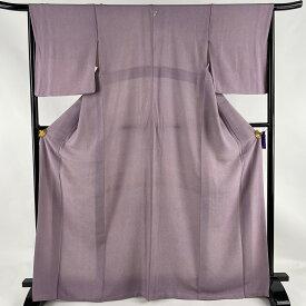 江戸小紋 美品 優品 一つ紋 鮫 灰紫 袷 169cm 65.5cm M 正絹 【中古】