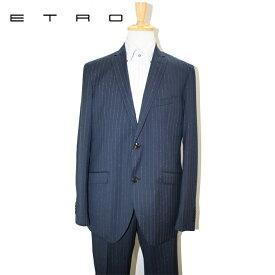 ETRO エトロ スーツ ストライプ 2ボタンスーツ ネイビー 52サイズ