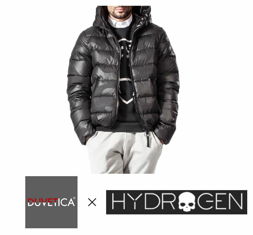 【HYDROGEN】 ダウンジャケット ハイドロゲン バイ デュベチカ/DOWN JACKET HYDROGEN BY DUVETICA ブラックカモフラ柄 21D004