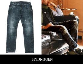 【HYDROGEN】ハイドロゲン メンズデニム ブラック カモフラ柄 190510-857