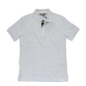 BURBERRY burberry バーバリー メンズ ポロシャツ ホワイト 鹿の子 大きいサイズ ビックサイズ 無地 ワンポイント チェック